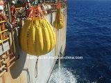 Sacos enchidos água do peso do teste de carga da prova do guindaste e do turco