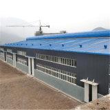 Edificio ligero prefabricado del taller de la estructura de acero con la pared del panel de emparedado