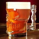 18 onzas (500 ml) Cristal Skull Face Mug taza de agua potable