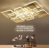 正方形の居間の照明設備の屋内ホーム装飾的なランプのかさのアクリルのための表面によって取付けられる現代LEDの天井灯