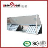 Cappuccio commerciale dello scarico dell'intervallo di vetro della copertura superiore