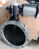 Válvula de borboleta pneumática do ferro de molde