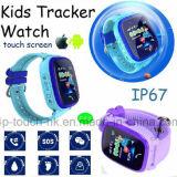 Telefone de vigilância inteligente de Rastreamento por GPS para as crianças com impermeável (D25)