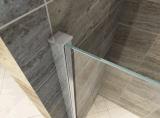 Casa de banho com vidro temperado 8 mm Gabinete Chuveiro deslizante ajustável