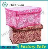 ふたが付いている習慣によって印刷される非編まれたボール紙の収納箱