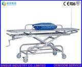 Krankenhaus-Emergency Gebrauch-Edelstahl-Krankenwagen-Transport-flache Bahre-Laufkatze
