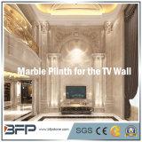 Wall/TV 벽 또는 란 Plinth 훈장을%s 우아한 크림 대리석 Plinth 또는 둘러싸거나 국경