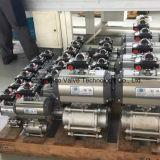 3 de Kogelklep van de Draad van het Roestvrij staal van PC Met Pneumatische Actuator (OEM)