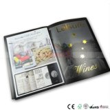 Catalogue de luxe avec feuille d'impression Stampingand spot UV sur toutes les pages