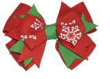 Grosgrain-Farbband-Weihnachtsboutique-Haar-Klipp-Haar-Bogen