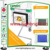 Instalação fácil de plástico da estrutura de publicidade para Carrinho de Compras de supermercado