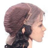 Человеческие волосы парика шнурка оптовой индийской естественной плотности волны 130% полные