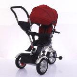Fácil de montar carrinho de bebé triciclo com Cesta Traseira