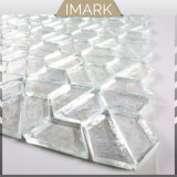 White Glass Mosaic Strips for Wall & Floor Decorative Basts
