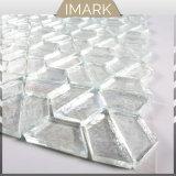 Mosaico de vidrio blanco de la pared y suelo de azulejos decorativos