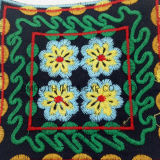 Fashion Vintage Colorful Square Ethnic Embroidery Patch Garment Accessorye Badge