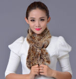 Женщины фасонируют шарф 100% зимы шерсти кролика Rex (YKY4396)