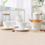 Het creatieve Theestel van het Diner van het Porselein van het Glas van de Pot van de Koffie van het Porselein van het Glas Vastgestelde