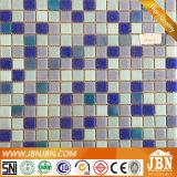 Mosaico de vidro da piscina do tamanho da mistura da cor do azul de oceano (H455021)
