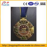 3D de metal de oro medalla con el diseño del cliente