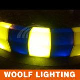 색깔 플라스틱 LED 점화 연석 도로 옆 포장
