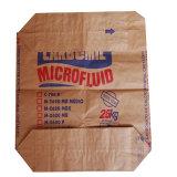 Sac de papier de Brown emballage pour l'empaquetage de poudre de farine de sable de la colle