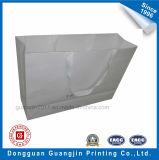 Personnalisé fait main blanc Kraft Paper Bag Panier avec gaufrage