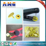 8g NFC Passive Hf RFID Animal Tags Yellow Small with Ntag213 Chip