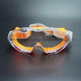 Lunettes de sûreté résistantes chimiques de lentille antibrouillard (SG147)