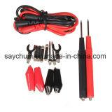 1 Coloque a Alavanca Multifuncional de Multímetro Digital Jacaré de cabo do Fio de Teste Sonda Clip Testador Multímetro de conduzir o fio da sonda Th4