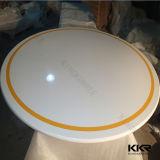 ホテル(T170913)のための正方形の白い固体表面のダイニングテーブル