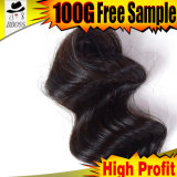 Dos clips naturales de la peluca de la base del silicón del color de tono en bulto