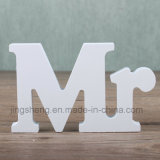 Mr & Mrs Signs Letters Wedding Supplies Ornements en bois d'alphabet