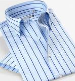 Camisa para hombre de algodón no de hierro con bolsillo en el pecho