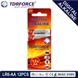 1.5V Batterij van de Vervaardiging van China de Digitale Primaire Alkalische Droge (lr03-AAA 12PCS)