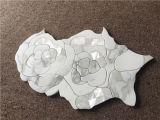Azulejo de mosaico Waterjet mezclado mármol barato del diseño de la flor del shell del oro de Calacatta del precio de la alta calidad