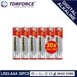bateria seca alcalina preliminar de Digitas da manufatura de 1.5V China (LR03-AAA 30PCS)