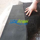 Suelo de goma de la gimnasia/suelo de goma del patio/suelo de goma antirresbaladizo
