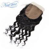 Закрытие фронта шнурка закрытия бразильской волны волос свободной Silk низкопробное