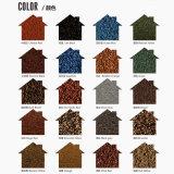 Los materiales de construcción de piedra color galvanizado recubierto de arena de impermeabilización de cubiertas de azulejos de metal