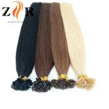 黒いカラー倍によって引かれるインドの毛のRemyの毛Uの先端の毛の拡張