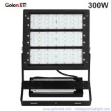 중국 Factory 100-277V 347V 480V 140lm/W 42000lm IP66 세륨 RoHS 300W LED Outdoor Flood Lighting