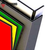 Ideabond 3-6 mm de color dorado de lujo en el Panel Compuesto de Aluminio