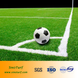 Grama falsificada da alta qualidade para o campo de futebol, campo de futebol, campo de esporte com GV Cerficate