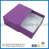 Boîte-cadeau rigide de papier rose de couleur avec le tiroir