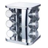 Gira de acero inoxidable utensilios de cocina Spice Jar
