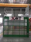 Ascenseur de matériaux et de personnel de cage de double d'élévateur de grue de construction d'ingénierie de construction de la CE avec le dispositif mécanique