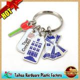 昇進の円形の印刷された金属Keychain (TH-06985)
