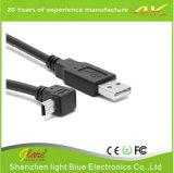 Diseño personalizado de ángulo recto, Cable USB Mini B