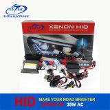 Kit OCULTADO delgado OCULTADO auto H1, H3, H7, H11, 9005, 9006&#160 del xenón de la CA de las linternas 35W de Evitek; Xenón H4 8000k alto-bajo